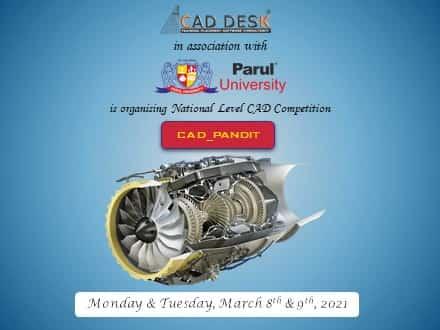 National Level CAD Competition by CAD DESK Vadodara